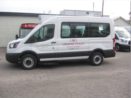 Crowne Plaza Cleveland Playhouse Basic Van Graphics