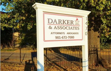 Darker Law Firm Custom Post and Panel Sign