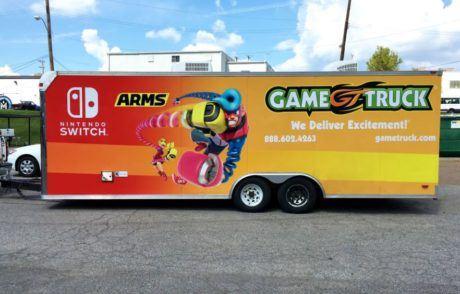 Game Truck Trailer Wrap