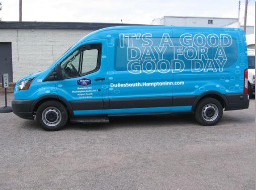 Hampon Blue Van Wrap Dulles