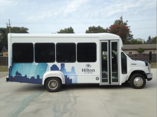 Hilton Hotel Senator II Bus 13 Passengers Interior Luggage