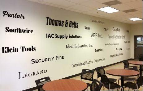 Memphis Electrical Break Room Wall Decals