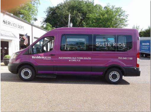 Residence Inn Alexandria Ford Transit Full Wrap Purple