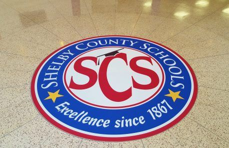 Shelby County Schools Floor Decal
