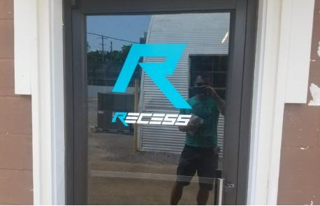 Vinyl Logo On Glass Door