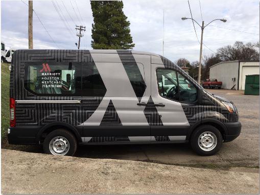 Marriott Houston New Design Van Wrap
