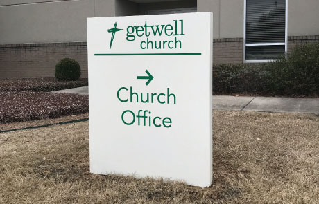 Getwell-Church-Metal-Cabinet-Wayfinding-Sign