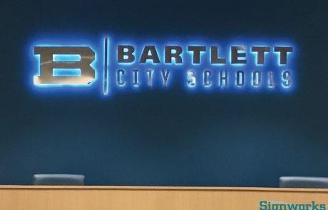 Bartlett-Schools-Reverse-Halo-Lit-LED-Channel-Letters