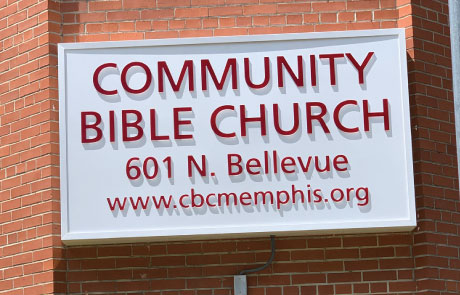 Community-Bible-Church-Lighted-Push-Through-Sign