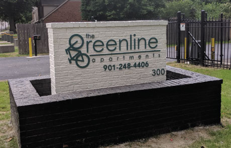 Greenline-Apartments-Acrylic-Letters-on-Monument